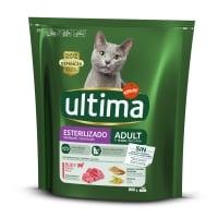 ULTIMA Cat Sterilised Adult, Vită, hrană uscată pisici sterilizate, 800g