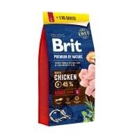 BRIT Premium By Nature Adult Large Breed, L, Pui, hrană uscată câini, 15kg+3kg GRATUIT