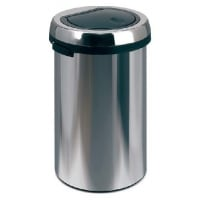 Cos metalic cu capac pentru reziduuri, 50 litri, VEPA BINS Flat Top - crom