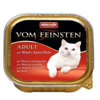 Pachet 4 buc Vom Feinsten Cat Menue Vita si Cartofi 100g