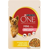 Purina One Dog Mini Weight Control, Curcan si Orez, 100 g