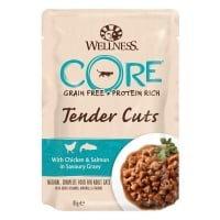 Wellness Core Cat Tender Cuts cu Pui si Somon, in Sos, 85 g