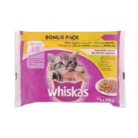 Whiskas Multipack Junior Pasare 4 x 100 g