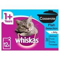 Whiskas Casserole Selectii de Peste 4x85g