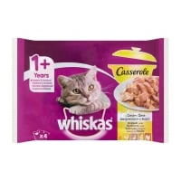 Whiskas Multipack Casserole Selectii Pasare, 4x85 g