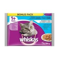 Whiskas Plic Adult cu Peste, 4 x 100 g