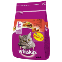 Whiskas Adult cu Vita si Ficat 1.4 kg + 2 Plicuri Cadou
