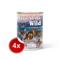 Pachet 4 Conserve Taste of the Wild Wetlands, 390 g