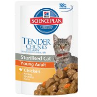 Hill's SP Feline Young Adult Sterilised cu Pui 85 g