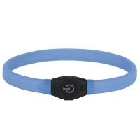 Zgarda cu LED, Maxi Safe, 1.5 cm x 65 cm, Albastru