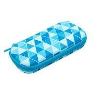Penar cu fermoar, ZIP..IT Colorz box - triunghiuri albastre