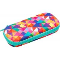 Penar cu fermoar, ZIP..IT Colorz box - triunghiuri culori asortate