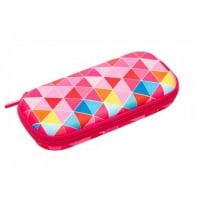 Penar cu fermoar, ZIP..IT Colorz box - triunghiuri roz