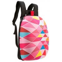 Rucsac ZIP..IT Shell - triunghiuri roz