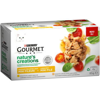 Gourmet Nature's Creations File Multipack Pui si Curcan, 4x85 g imagine