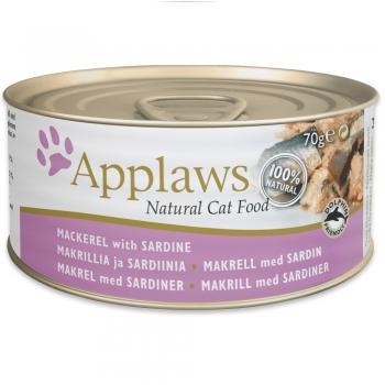 Applaws Cat Adult Conserva Sardine si Macrou 70g