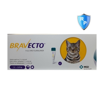 Bravecto Spot On Cat 1.2-2.8 kg, 112.5 mg, 1 pipeta
