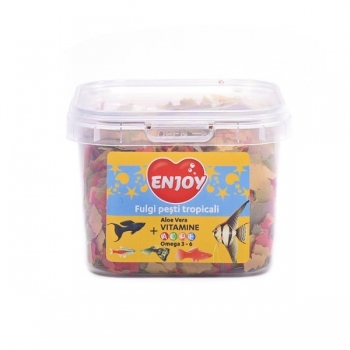 Hrana pentru pesti Enjoy Fulgi Tropicali 26 gr/225 ml imagine