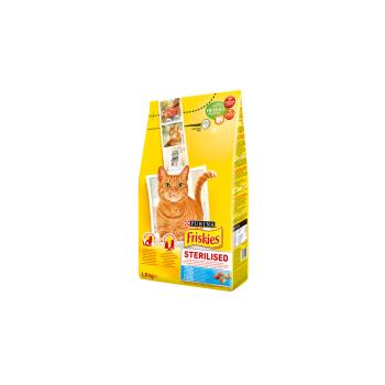 Friskies Cat Adult Sterilised Somon si Legume, 1.5 Kg