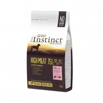 True Instinct High Meat Med-Maxi Adult cu Somon, 12 kg