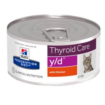 Hill's PD Feline y/d - Tulburari ale Glandei Tiroide, 156 g