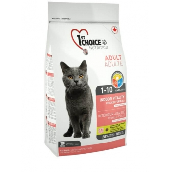 1st Choice Cat Adult Indoor Vitality, 10 Kg imagine