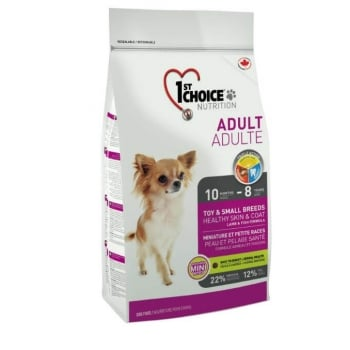 1st Choice Dog Puppy All Breeds, Sensitive Skin and Coat, 2.72 kg imagine