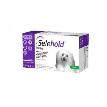 Selehold Spot On Dog 30 mg, 2.6 kg-5 kg, 3 Pipete imagine