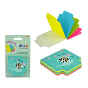 Magic Tracking Notes 70 X 70 Mm  4 X 25 File/set