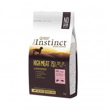 True Instinct High Meat Med-Maxi Adult cu Somon, 2 kg