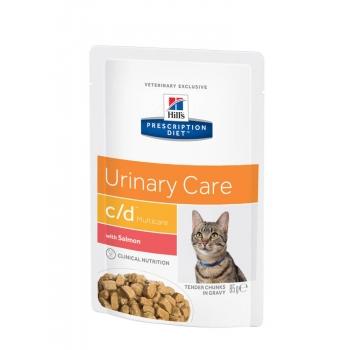 Hill's PD Feline c/d Multicare - Prevenirea Recurentei Struvitilor, Somon, 85 g