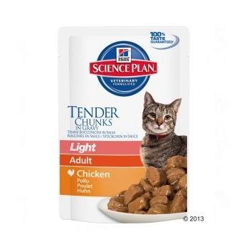 Pachet 5 Plicuri Hill's SP Feline Adult Light cu Pui 85 g