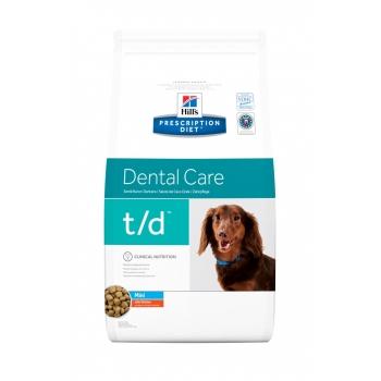 Hill's PD Canine t/d mini, Boli Stomatologice, 3 kg