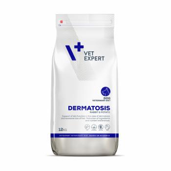 Pachet 2 x 4T Veterinary Diet Dermatosis Dog Iepure si Cartofi, 12 Kg