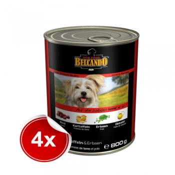 Pachet 4 Conserve Belcando Vita Cartof si Mazare 800 g imagine