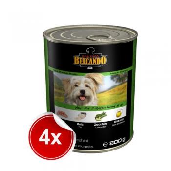 Pachet 4 Conerve Belcando Curcan Orez si Dovlecel 800 g imagine