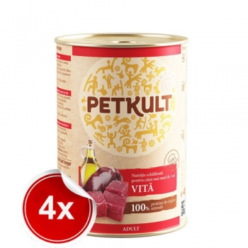 Pachet 4 Conserve Petkult Adult Dog Vita 800 g imagine
