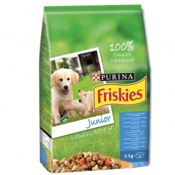 Friskies Dog Junior Pui si Legume, 8 kg