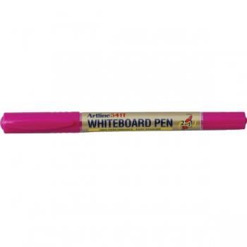 Marker pentru tabla de scris, doua capete - varfuri rotunde, subtiri, ARTLINE 541T - roz