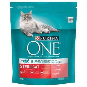 Purina ONE Sterile Cat Cu Somon, 800 g