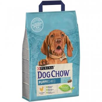 Dog Chow Puppy Talie Medie, cu Pui, 2.5 kg imagine