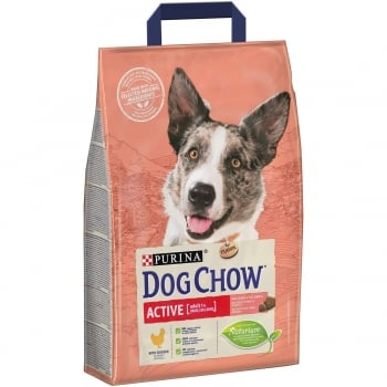Dog Chow Adult Active Pui, 2.5 kg