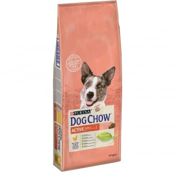 Dog Chow Adult Active Pui, 14 kg