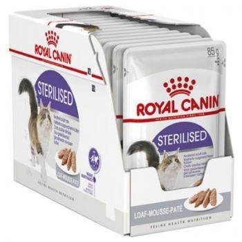 Royal Canin Sterilised Adult, bax hrană umedă pisici sterilizate, (pate), 85g x 12