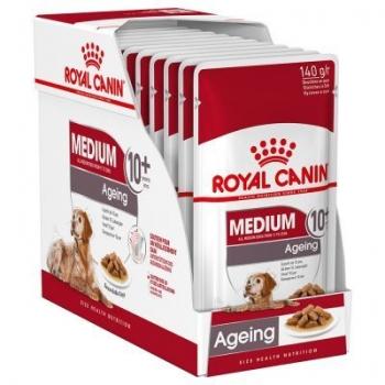 Pachet Royal Canin Medium Ageing 10+, 10x140 g imagine