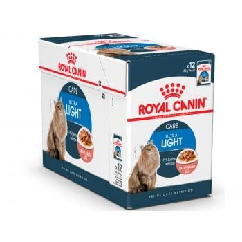 Royal Canin Light Weight Care Adult, bax hrană umedă pisici, managementul greutății, (în sos), 85g x 24