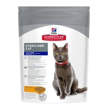 Hill's SP Feline Mature Adult 7+ Sterilised cu Pui, 300 g