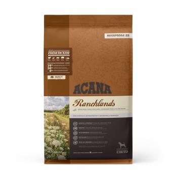 ACANA Regionals Ranchlands, pachet economic hrană uscată fără cereale câini, 11.4kg x 2