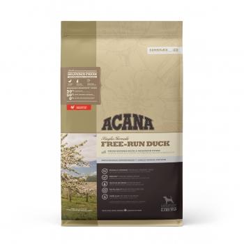 ACANA Singles Free-Run Duck, Rață și Pere, pachet economic hrană uscată monoproteică fără cereale câini, 11.4kg x 2