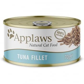 APPLAWS, File Ton, conservă hrană umedă pisici, (în supă), 156g